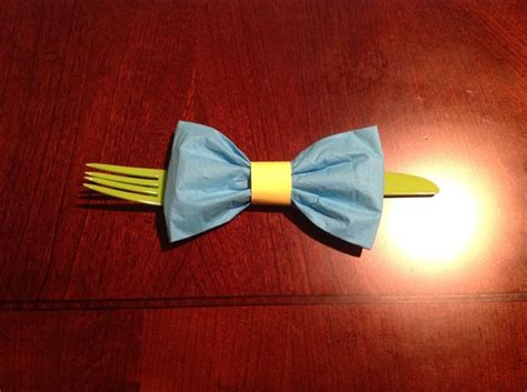 Folding Paper Napkins With Ribbon - 25 best ideas about bow tie napkins on
