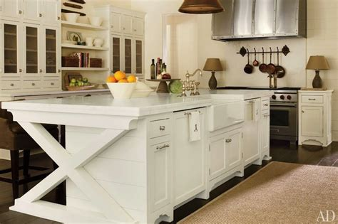 Metal Floating Shelves by X Kitchen Island Transitional Kitchen Architectural Digest