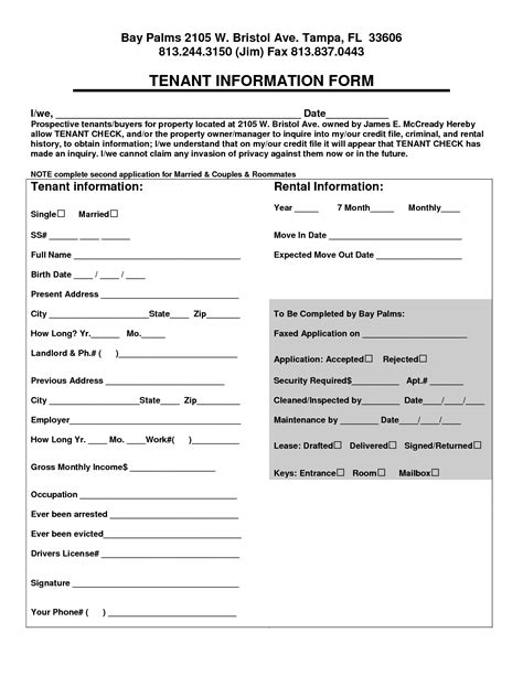 best photos of renter information form tenant