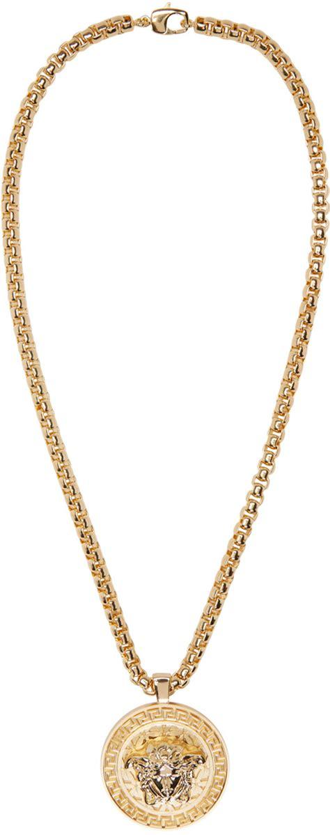 versace gold medusa chain necklace ssense