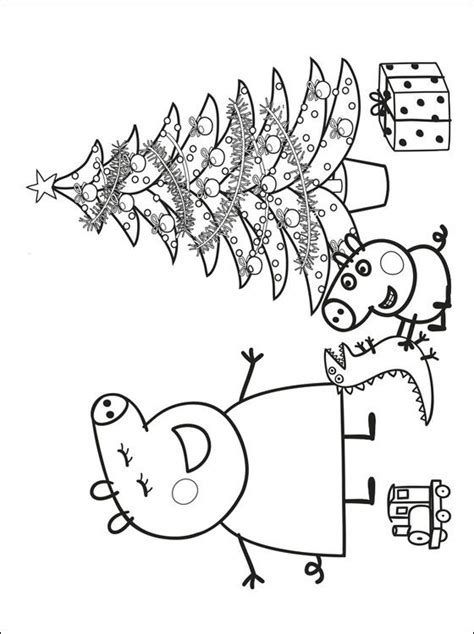 christmas colouring pages peppa pig peppa pig coloring pages coloring page of a peppa
