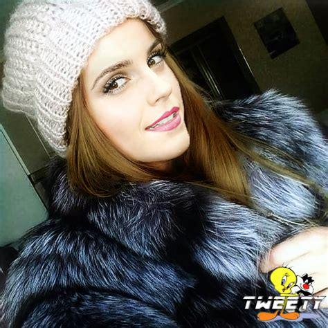 emma watson selfie emma watson selfie in fox fur coat by tweety63 on deviantart