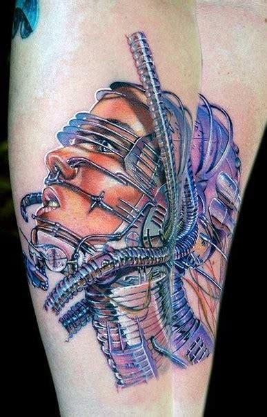 new school biomechanical tattoo new school style colored tattoo of biomechanical human