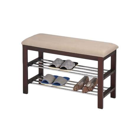 beige walnut shoe rack bench a well beautiful and