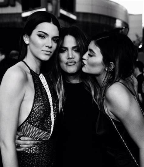 cele bitchy khloe kardashian kylie kendall jenner who looked models kendall and kylie jenner with their celebrity