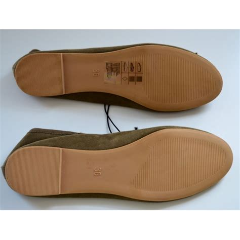 olive green flat shoes 47 h m shoes olive green ballet flats from