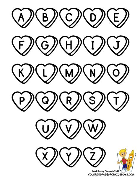 whole alphabet coloring page whole alphabet coloring pages of valentine alphabet at