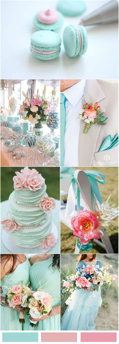pink and blue wedding colors blue inspired wedding color ideas