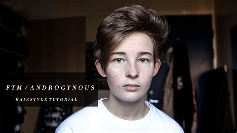 trans ftm hairstyles ftm transgender haircut youtube ftm androgynous gender queer hairstyle tutorial youtube