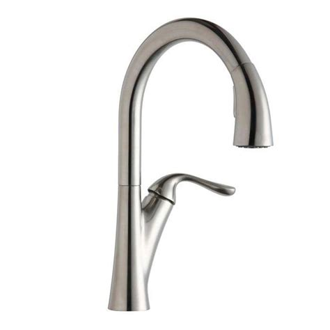 elkay faucets kitchen elkay harmony single handle pull down sprayer kitchen faucet in lustrous steel lkha4031ls the