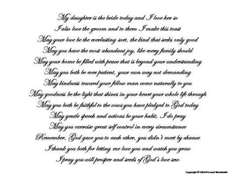 Mother of Bride Toast Speech Download, Printable Mother of