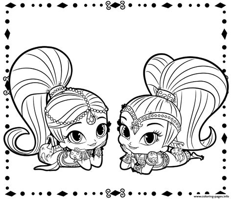 nick jr winter coloring pages shimmer and shine coloring pages printable
