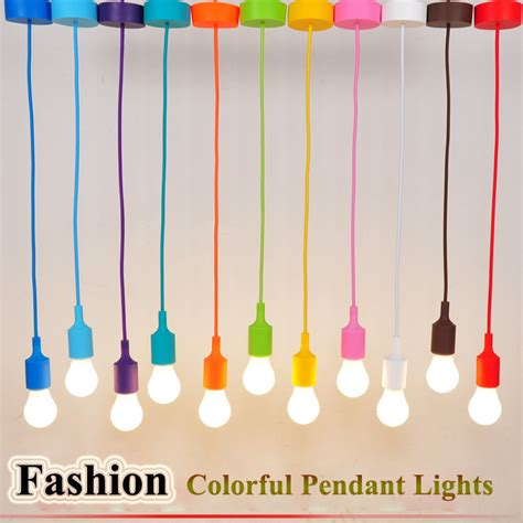 colorful pendant lights buy colorful e27 silicone rubber pendant light l holder