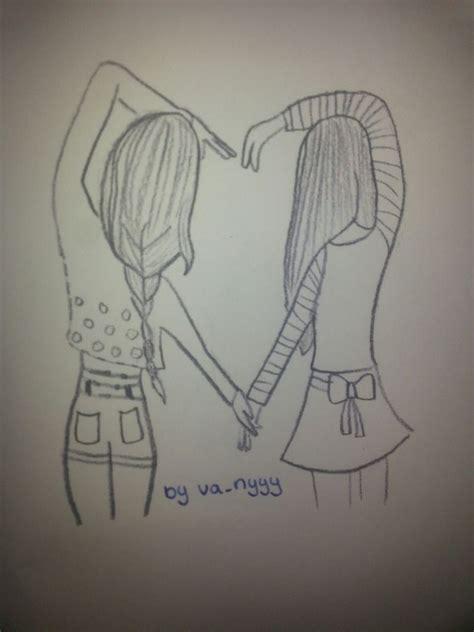 Drawing W Friends by Drawing Best Friends We It Best Friends Bff