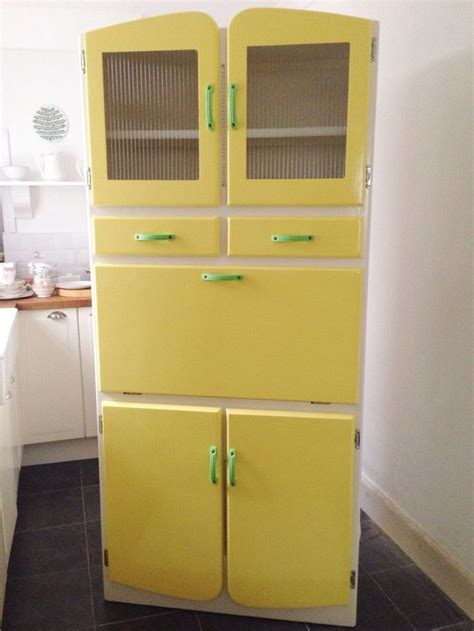 1950s Kitchen Larder Cupboard by Vintage Kitchenette Cabinet 1950s 1960s Yellow Cupboard