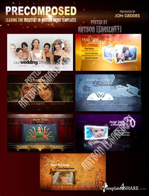 precomposed pro motion menu kits full collection