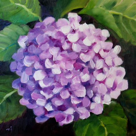 hydrangea painting on canvas nel s everyday painting lavender hydrangea sold