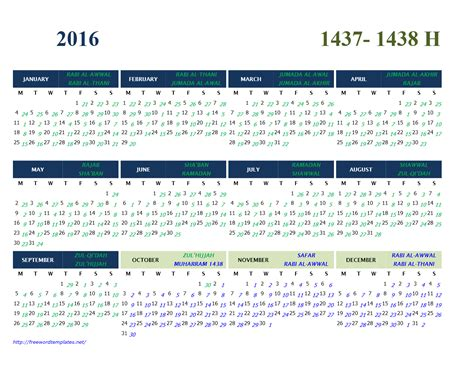 Islamic Calendar Conversion 2017 Calendar Gregorian And Hijri