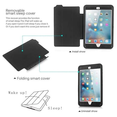 Smartcase Smartcover For Apple New 2017 Air 3 shockproof heavy duty smart cover for apple 4 3