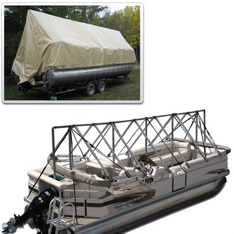 navigloo pontoon boat covers navigloo storage system for 23 24 pontoon boats with 19