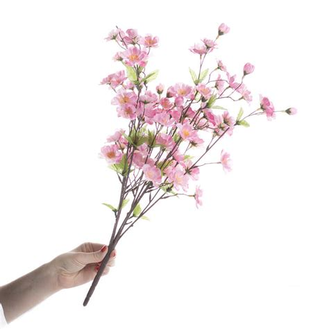 pink artificial peach blossom bush bushes and bouquets floral supplies craft supplies