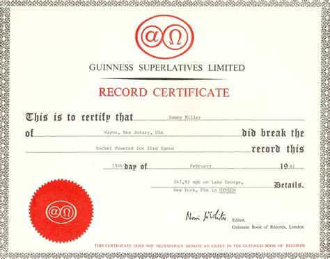 guinness world record certificate template 28 images