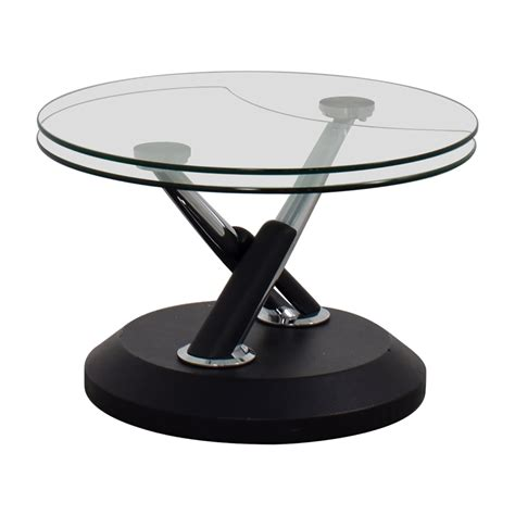 elm glass table 90 elm elm glass swivel coffee table tables