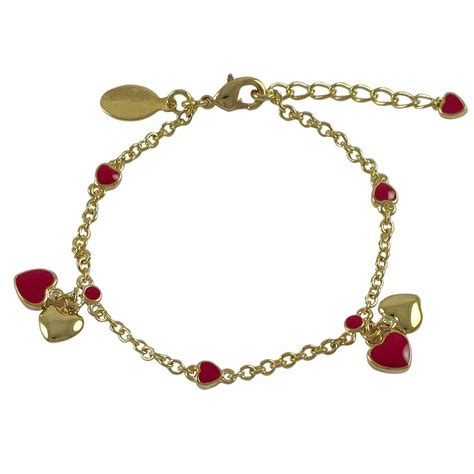 where to buy charms for jewelry gold plated enamel hearts charm bracelet ebay