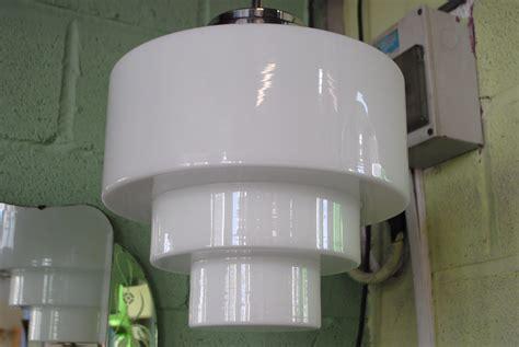 deco ceiling light deco ceiling light with stepped glass shade cloud 9