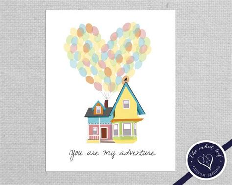 Disney Printable Up House With Balloons | home decor inspired by disney pixar movie up carl and
