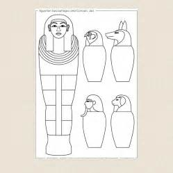 sarcophagus template sarcophagus and canopic jars colouring sheet