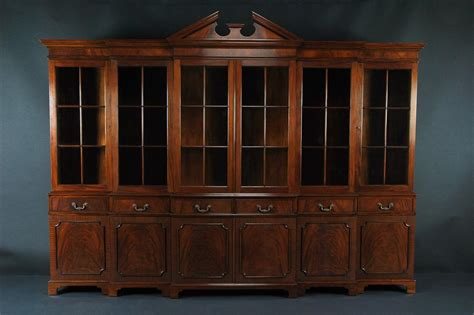 Mahogany China Cabinet by Large Mahogany China Cabinet Large Breakfront