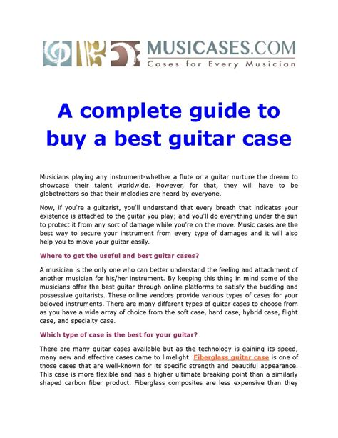 bought the complete guide to successfully buying your home books a complete guide to buy a best guitar by musicases