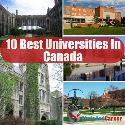 Universities In Canada For Mba by Top 10 Best Universities In Canada Diy Study And Career