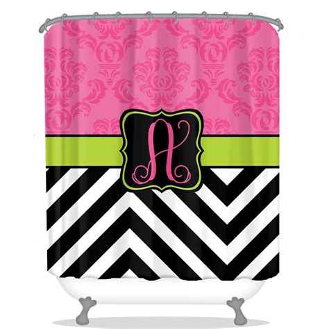 personalized shower curtain damask shower curtain chevron shower curtain