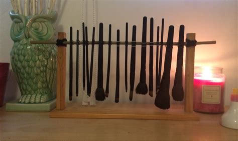 Brush Drying Rack by I Bodged Together A Portable Brush Drying Rack