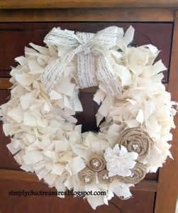 rag wreath simply chic treasures muslin rag wreath