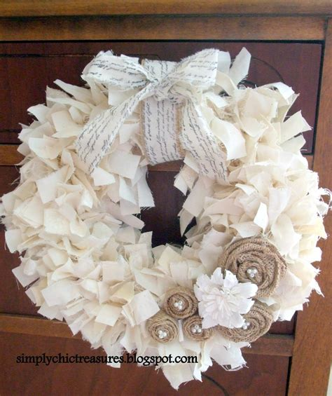 rag wreath simply chic treasures muslin rag wreath
