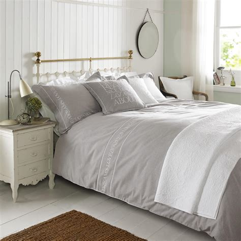 natural bedding embroidered natural bed linen by emma bridgewater house of bedding