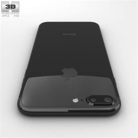 apple iphone 7 plus jet black 3d model hum3d