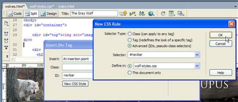 creating css rules in dreamweaver creating a navigation bar using css to style an unordered