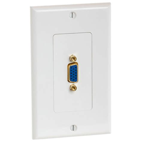 Wall Plate Vga vga 15 pin wall plate with gold plated connector