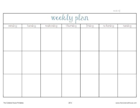 Blank Weekly Schedule Pdf Printable Weekly Planner Template Lesson Plan Fillable Weekly Calendar Lesson Plan Schedule Template