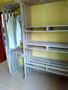 How To Organize A Small Closet For Two - pallet closet wardrobe made from pallets 99 pallets