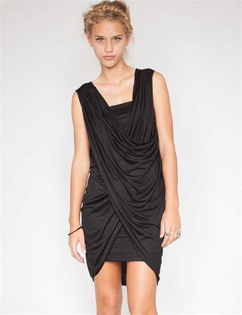 Dress Black Twis cross twist dress multi black dress black bodycon