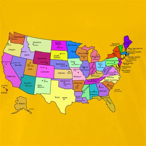 united states map with state and capital names united states map with capitals and state names t shirt