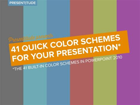 powerpoint template color scheme 41 color themes for your presentation