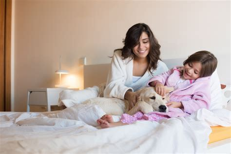 sleeping with your can sleeping with your pet affect your health mattress mania