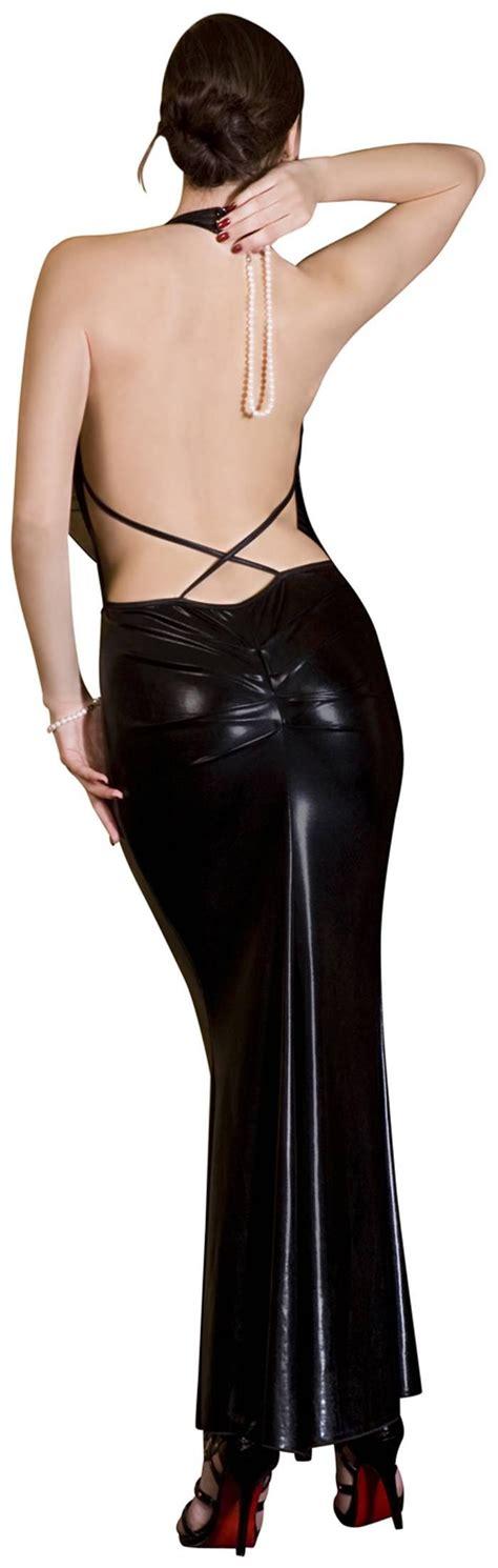 noir handmade elegantes langes kleid mit t 252 ll r 252 ckenfrei