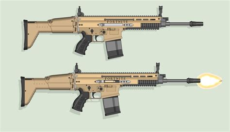 fortnite without guns scar assault rifle from fortnite by hypnozeus on deviantart